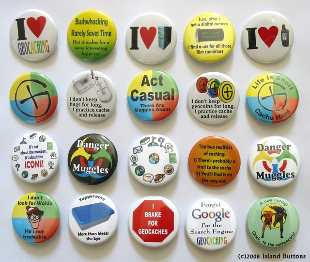 [Picture of Geocaching Button Set 101]