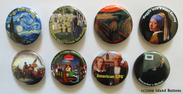 [Picture of Geocaching Button Set 103]