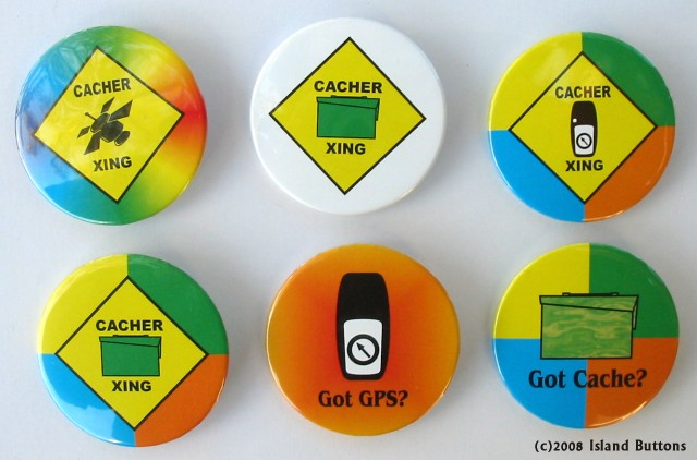 [Picture of Geocaching Button Set 201]
