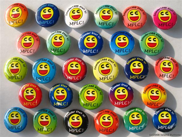 Geocaching Button Set 82b (25 Macarons, 1 Design Personnel, MPLC Multicolore)
