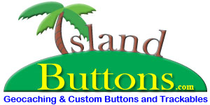 [Island Buttons Geocaching Supplies Logo]
